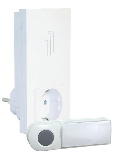 Smartwares DB421E Kablosuz Kapı Zili Seti Beyaz Fişli (plug-in) Soketli Renkli